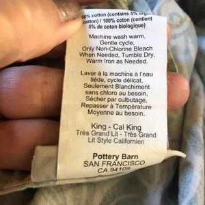 Pottery Barn king size duvet cover.